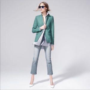 J.Crew Women's Regent Linen Blazer Size 10 Green